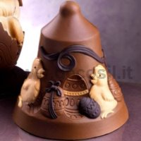 Moule Cloche en Chocolat Poussins